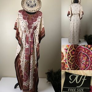 Vintage Dress Boho Kaftan Festival Tribal Design